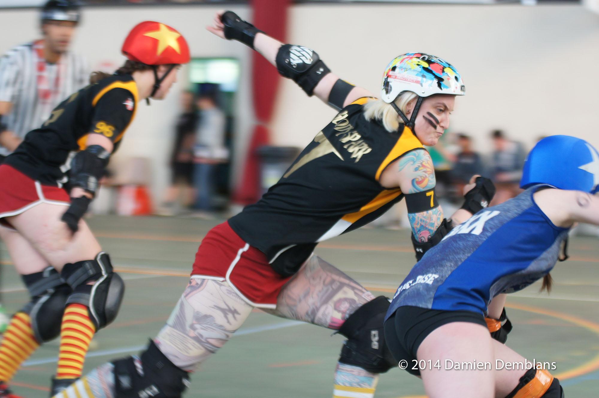 Blocage de Roller Derby
